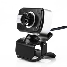 Full HD 2 LED USB 2.0 HD Webcam Camera Web Cam With Microphone Mic For PC Laptop Free Shipping H1T07