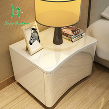 Simple modern European white Bedside cabinet  bedroom nightstand