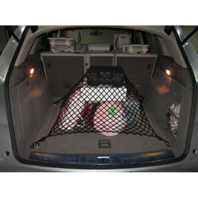 6 Hooks High Elastic 105x60cm Black Car Tiding Mesh Auto Trunk goods fixed Net Storage Bag with 3 Using Method