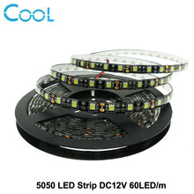 Black PCB LED Strip 5050 DC12V IP65 Waterproof 60LED/m 5m/lot White / Warm White / Red / Green / Blue / RGB 5050 LED Strip.(China)