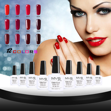 MYS 10ml 12 Colors Wine Red Series 12 Colors Pick 1 UV Gel Nail Varnish Nail Gel Polish Gel LED UV Nail Art Manicure