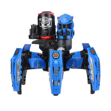 GoolSky Toys 9005-1 2.4G Remote Control Space Warrior DIY Assembly Battle Fighting Robot RC Toy for Children's Gift Blue