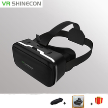 Casque Lens Shinecon VR Box Virtual Reality Glasses 3 D 3d Goggles Headset Helmet For Smart Phone Smartphone Google Cardboard(China)