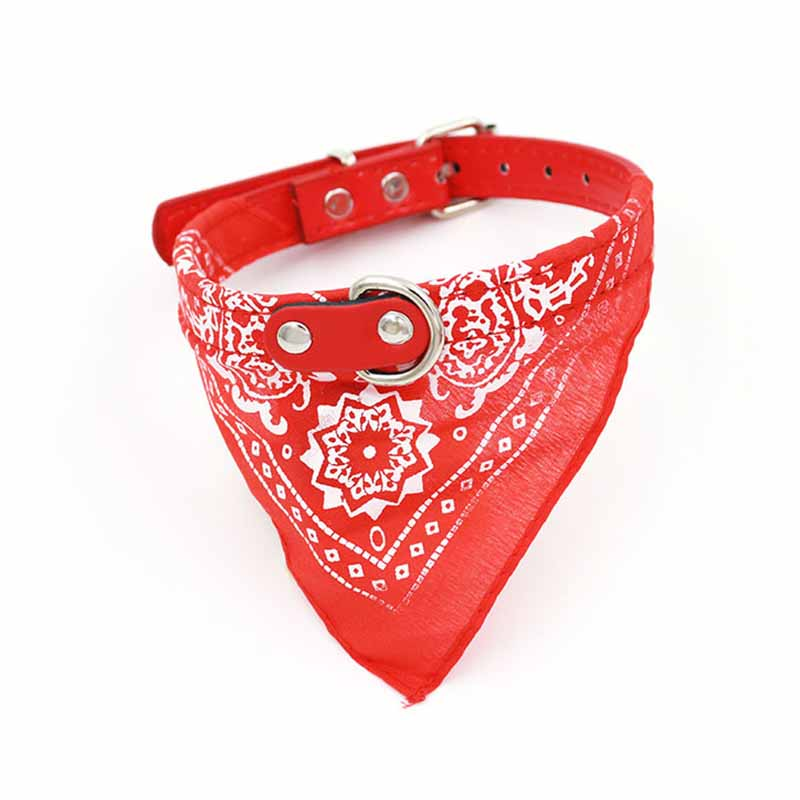 SYDZSW 7 Colors PU Pet Collar Dog Scarf Saliva Towel Leather Dog Collor Lead for Cats Chihuahua Products for Small Large Dogs9