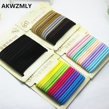 15Pcs/Set Fashion Women Children Headband High Quality Hairband Black Candy Color Hair Accessories Elastic Hair Bands(China)