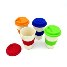 2PCS/LOT New Novelty Bamboo Powder Fiber Product Best Gift for Family Tablewares Drinking Cup and Mug(China)