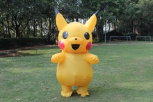 Inflatable Pikachu Costume Cosplay Adults Outfit Men Women Blowup Mascots Fancy Dress Suit - HAPPY WALK Official Store store