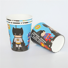10pcs/lot paper cup Cartoon Batman Avergers Super hero Kids Birthday party supply event party supplies party Decoration Set