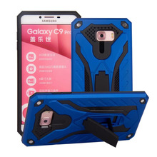 For Samsung Galaxy C9 Pro Case phantom knight Armor Stand Hard Rugged Cover Silicon Phone For Samsung C9 Pro Cases(China)