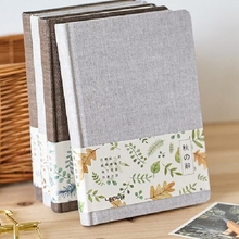 A5 Autumn cloth cover notebook planner blank inside pages note book personal diary agenda 2017 notebooks and journals libretas