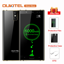 Original 6000mAh OUKITEL K3 4 Cameras 4G Smartphone MTK6750T Octa-Core Android 7.0 4GB+64GB 16.0MP+2.0MP 5.5inch Mobile Phone