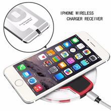 2016 New LED Lights Tablet Wireless Charger Kit for iPhone 6 6S 5 SE 5S Qi Phone Charger Pad & Receiver(Hong Kong)