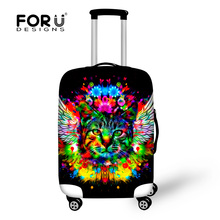 2017 Animals Cute Cat Tiger Head Printed Luggage Protective Covers Suitcase Cover For 18-30 Inch Elastic Travel Case Accessories