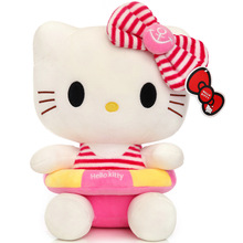 50CM Quality Cheap Cute Hello Kitty plush toys for children kids baby toy lively lovely doll hello kitty toy Valentine gifts(China)