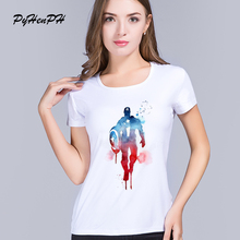 PyHen New 2016 Ink Captain America t shirt New product Originality art T shirt for women good quality comfortable tops
