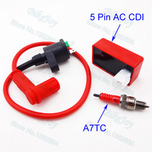 Racing Ignition Coil AC CDI Spark Plug A7TC Per Il Cinese ATV Quad Pit Dirt Bike CRF50