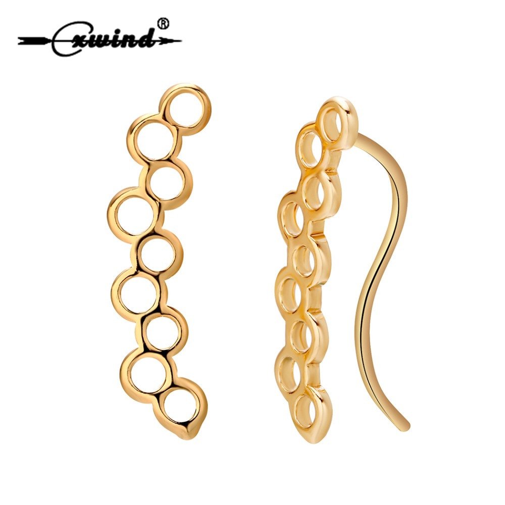 Cxwind Tiny Geometric Round Bee Hive Earrings for Women Girl Hollow Honeycomb Shape Earring Bridesmaid Wholesale Accessories
