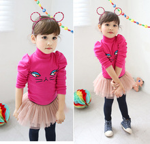 2017 Korean children sweatshirt girls hoodies baby fleece clothes kids masha bear hello kitti  sudadera minnie