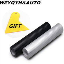 15 cm x 127 3D Carbon Fiber Vinyl Car Wrap Sheet Roller Film Sticker & Motorcycle Styling Accessories - WZYQYH&AUTO CHENFAN Store store