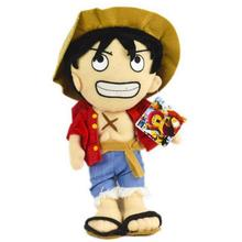 1pcs 30cm Japan Anime One Piece Monkey D Luffy Big Plush Toy Doll Soft Stuffed Dolls Kids Toys For Children Birthday Gifts(China)