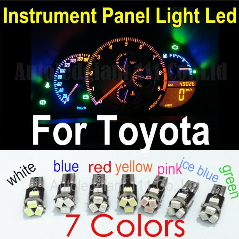 10x 7Colors T5 LED Car Light 286 74 73 Led Wedge 5 SMD Lamp Speedo Gauge Dashboard Instrument Panel Light Bulb For Toyota<br><br>Aliexpress
