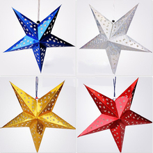 1 PC 30cm Christmas Tree Decoration Cutout Tree Top Star Of Light Five Angle-pointed Star Ornament for Party Home Decor P30