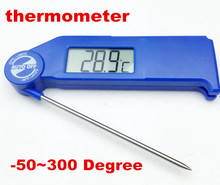 50pcs by dhl fedex Digital lager screen Foldable Thermometer -50C~300C Degrees Fahrenheit test temperature memory hold