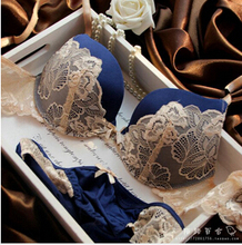 Underclothes Brand Underwear Women Bras B C cup Lingerie set With Brief Sexy Lingerie Lace Embroidery Bra Sets Bowknot Bras(China)