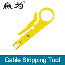 Cable Tools Portable Wire Stripper Knife Crimper Pliers Crimping Tool Cable Stripping Cutter Pocket for Network Telephone Line(China)