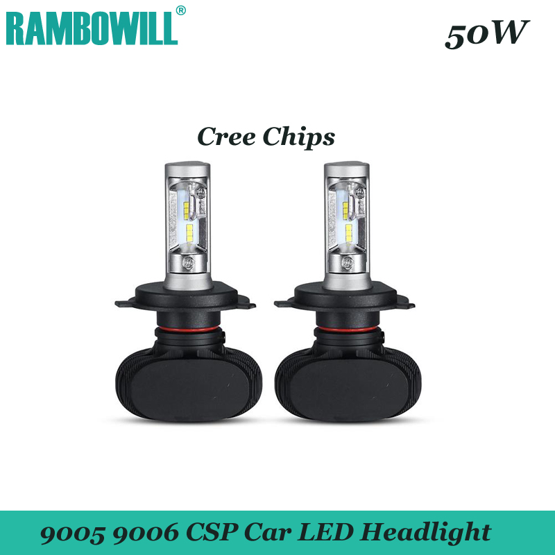 2x 50W 9005 9006 CSP LED Car Headlight Bulbs CREE Chips 8000LM 6500K Auto LED Headlights Head Lamp Driving Light 12V 24V Vehicle<br><br>Aliexpress