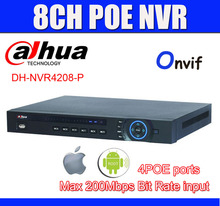 DAHUA 8CH NVR NVR4208-P 5MP/3MP/1080P 8Ch Network Video Recorder 4POE Ports NVR Supports IEEE802.3af Onvif P2P Easy Access