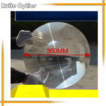 1PC 360mm Large Dia Round PMMA Plastic Big Solar Fresnel Condenser Lens Long Focal Length Plane Magnifier,Solar Magnifying Glass(China)