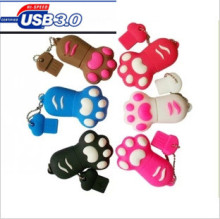 High-speed 10M/s  Cartoon  tiger Paw USB 3.0 Flash Memory Stick Pen Drive  4GB 8GB 16GB 32GB 64GB Creative Pendrives 3EE3