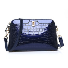 Ciephia Crocodile Embossed Women Messenger Bag Small Patent Leather Crossbody bags for Woman Handbag Shell Switch Lock Zipper(China)