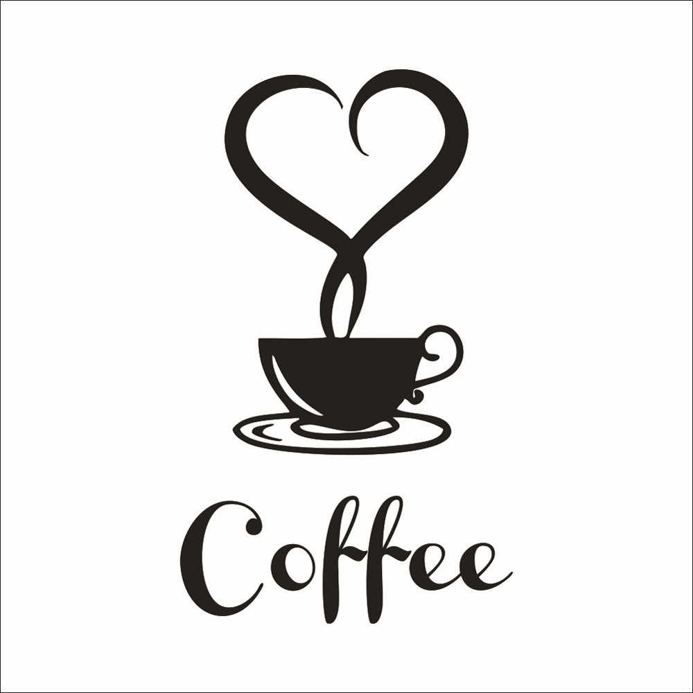 Waterproof Removable Art DIY Kitchen Decor Coffee Cup Decals Vinyl Mug environmental protection Wall Sticker