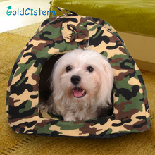 2017 New Arrival 1 pcs Camouflage Warm Soft House Bed Pet Dog Bed Warming Dog House Puppy Kitten Nest Mat Pet Supplies(China)