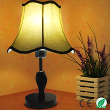 Dark Knitted Fabric Lampshade & Compressed Wood Base LED Table Lamp , Contemporary Household Art Decoration Abajur