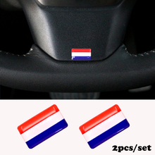 2pcs/set Steering wheel 3D Epoxy Car Styling fit for Alfa Opel Renault hyundai suzuki Car Sticker Netherlands National Emblem