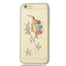 Luxury diamond case For iphone 6 6s 7 soft TPU Case flowers Diamond 3d Bling jewelry Crystal case for iphone 5 5s 5c 6 6s plus