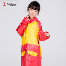 Rainfreem Impermeable Raincoat Children Waterproof Raincoat Poncho Kids Rain Gear Jacket Children Rain Coat Boys/Girls Rainwear