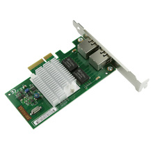 2 ports RJ45 Server Gigabit Ethernet PCI-e Card 10/100/1000Mbps Network Interface Card For intel i350-T2 NIC(China)