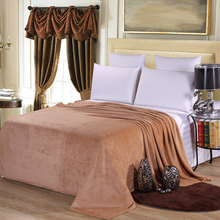 Home textile 180x200 light tan blanket summer solid color super warm soft blankets throw on sofa/bed/ travel bedspreads sheets