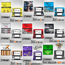 12 Choice Front&back Decal Skin Sticker for Nintendo For New 3DS Sticker Skins for New 3DS Decor for New3DS