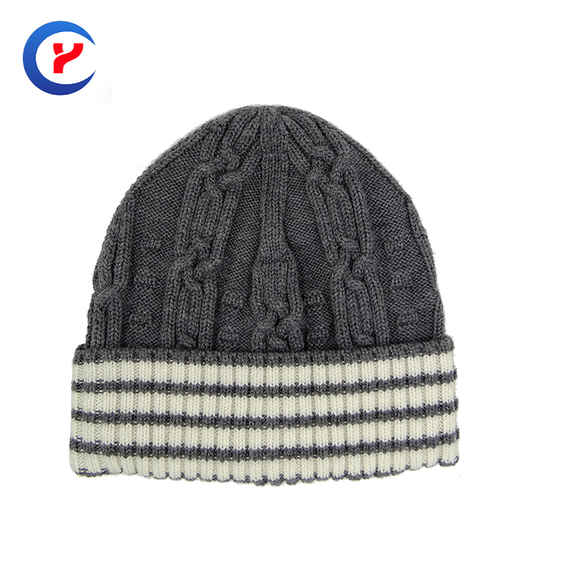 2017 New arrival Hot Fashion women  rabbit wool Knitted hat High quality Warm striped Knitting cap Winter edgefold caps #x28Одежда и ак�е��уары<br><br><br>Aliexpress