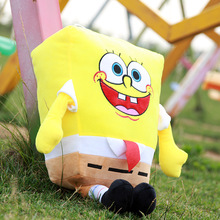 2016 45/60cm  Sponge Bob Puppets Toy Spongebob Plush doll Toy Anime Cosplay Doll For Kids Toys Cartoon Figure Cushion for kids