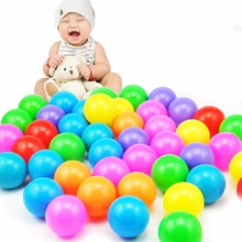100pcs Soft Plastic Toy Ocean Ball Water Pool Balls Baby Funny Toys Stress Air Ball Outdoor Fun Sports 5.5cm grappige stressbal