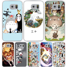 Studio Ghibli Spirited Away Totoro Hard Transparent Cover Case for Samsung Galaxy S7 Edge S6 S8 Edge Plus S5 S4 S3 & Mini S2