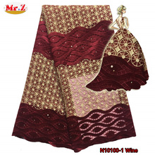 Mr.Z African Lace Fabric 2016 Embroidered Nigerian Laces Fabric Bridal High Quality French Tulle Lace Fabric For Women N10100