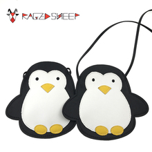 Raged Sheep Girls Small Coin Purse Change Wallet Kids Bag Coin Pouch Baby Wallet Money Holder Lovely Kid Gift Penguin Bag(China)