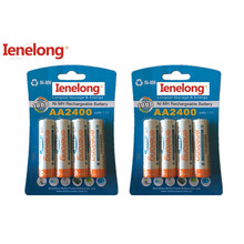 8pcs 100% genuine original Ienelong 2400mAh NiMH AA rechargeable batteries, high-quality toys, cameras, flashlights and battery